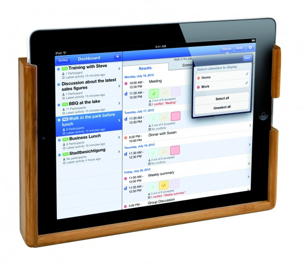Bamboo holder for iPad