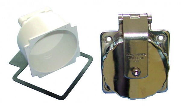 Osculati socket AISI 316, -30 Amp.