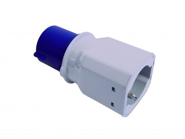 Adapter CEE plug male - European plug female