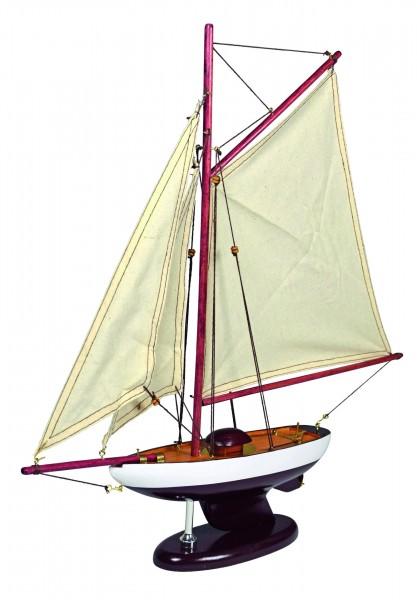 """Holz-Modelboot """"Schaluppe"""" 42x17x150 cm"""