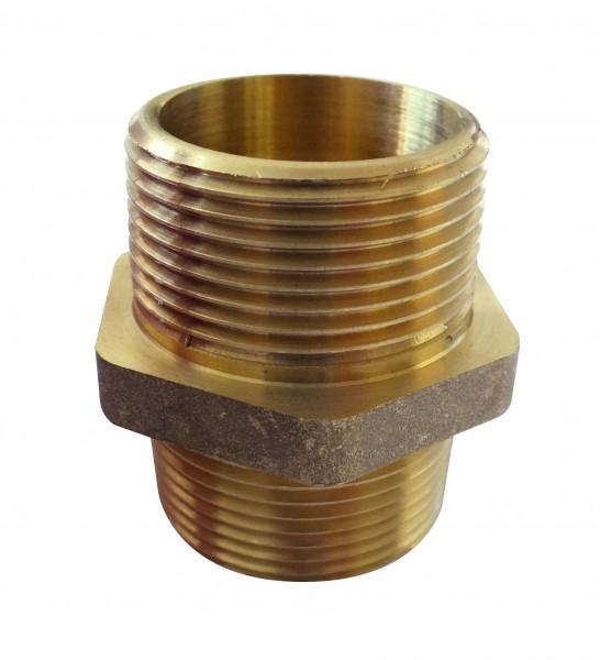 CR brass double nipple