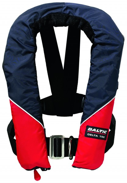 Inflatable Lifejacket Baltic Delta 150 N w. H. red / navy Automatic