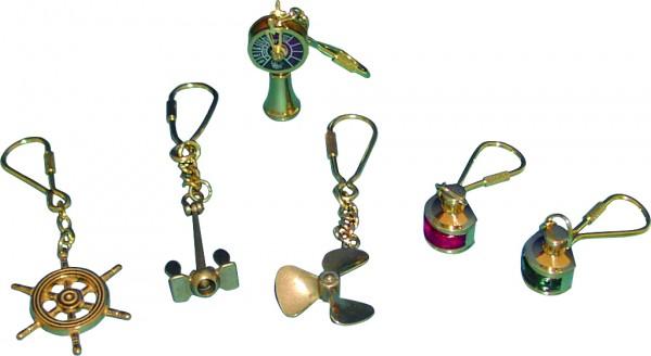 Schlüsselanhänger, Messing, Maschinentelegraph