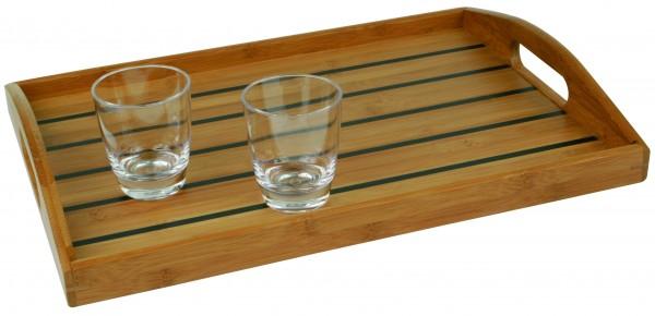 Bambus Tablett glatt