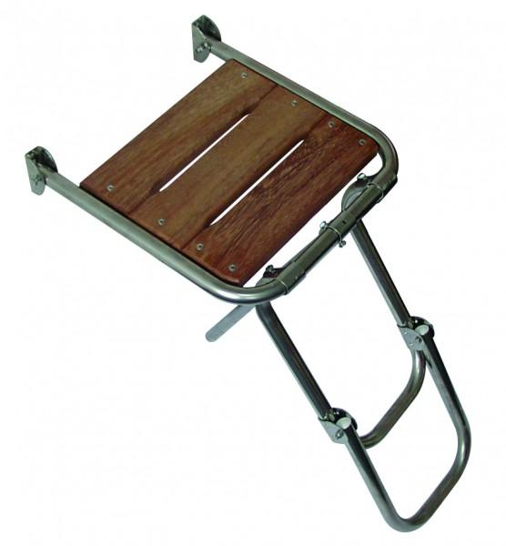 Mini-Badeplattform mit Leiter