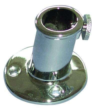 Flagpole base brass chromed