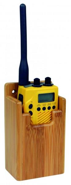 Bamboo holder for GPS / VHF