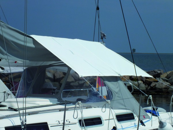 SunCoverSail Mounted Over Beam