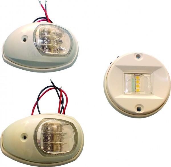 LED Positionslicht rot + grün, ABS weiß