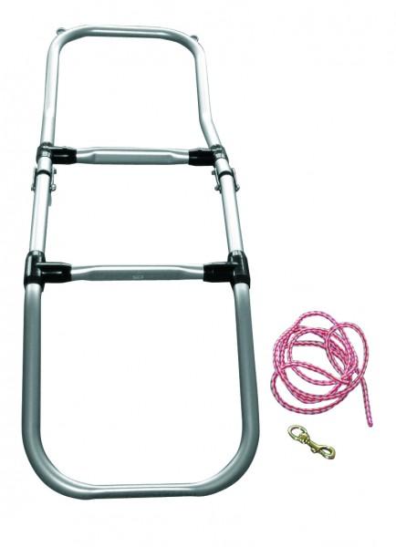 Folding dinghy ladder