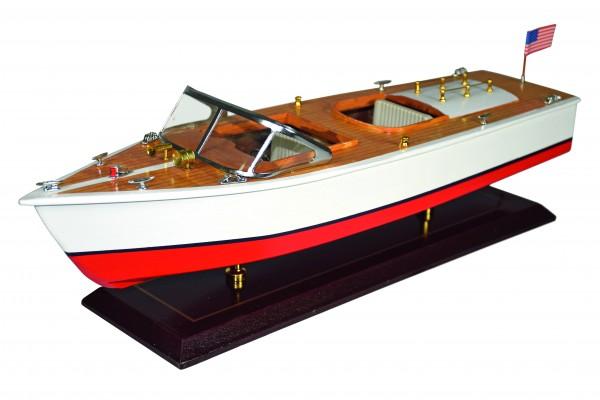 Holz-Modelboot Amerikanisches Motorboot 50x15,5x15,5 cm