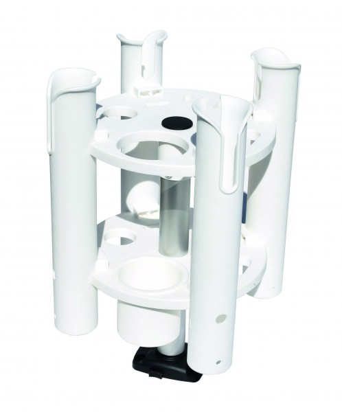 Fishing rod holder for 4 rods, turnable