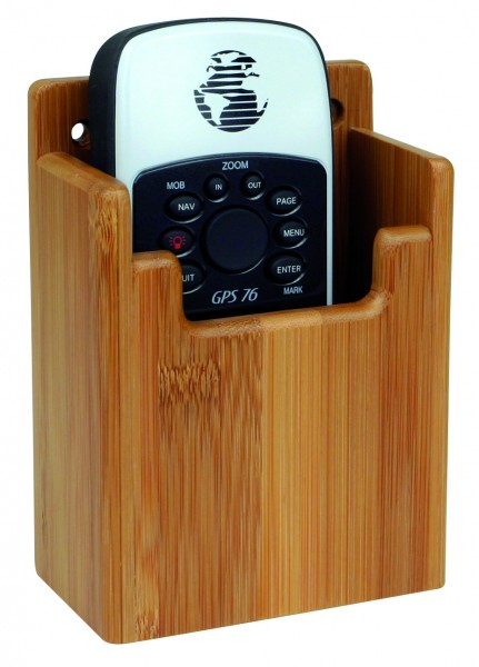 Bamboo holder for GPS / VHF