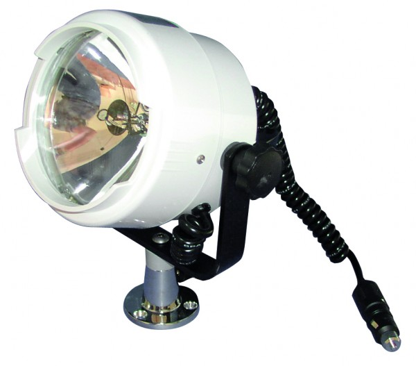 Waterproof search light for deck mounting
