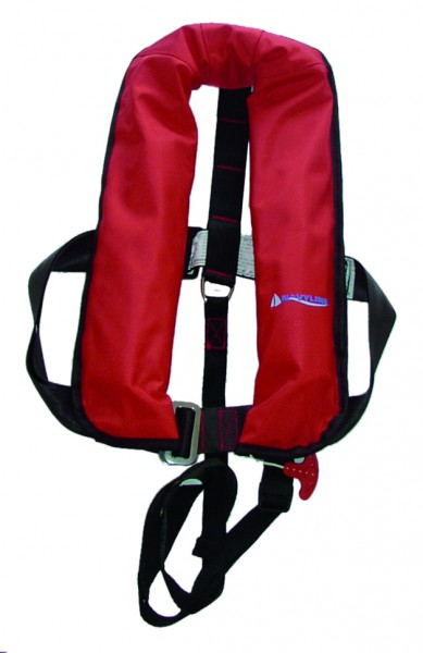 Navyline automatic lifevest 150 N red with harness