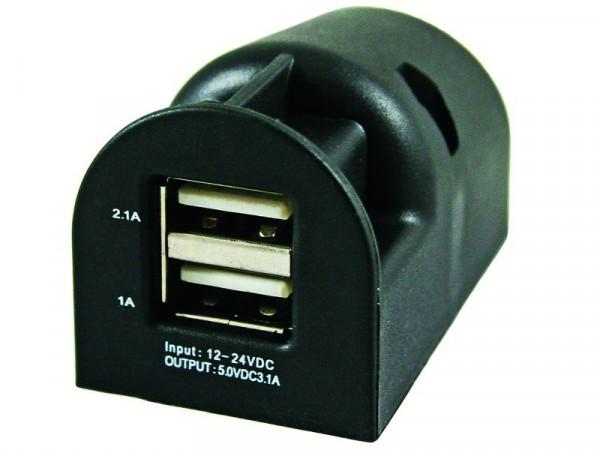 12 Volt Aufdecksteckdose 2 USB