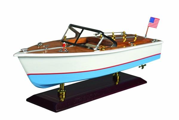 Holz-Modelboot Amerikanisches Motorboot 35x12x15 cm