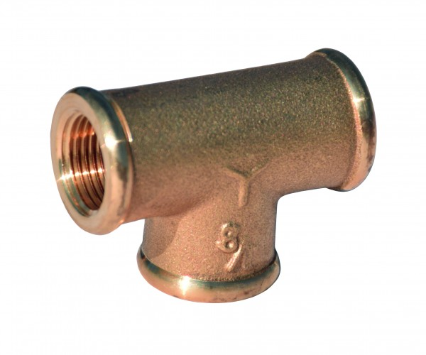 T- joint made of CR brass