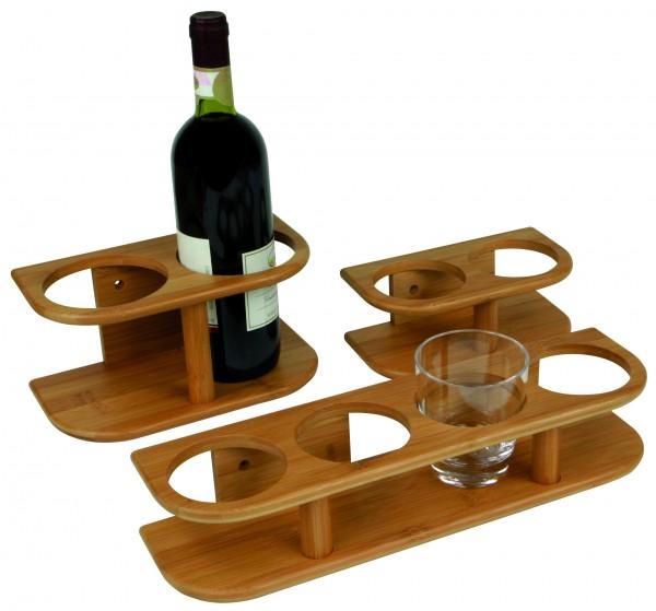 Bamboo holder for glasses