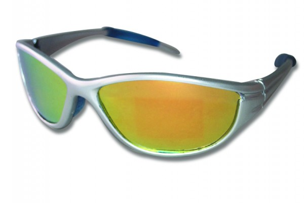 Sunglass, frame silver, polarizing, yellow glas