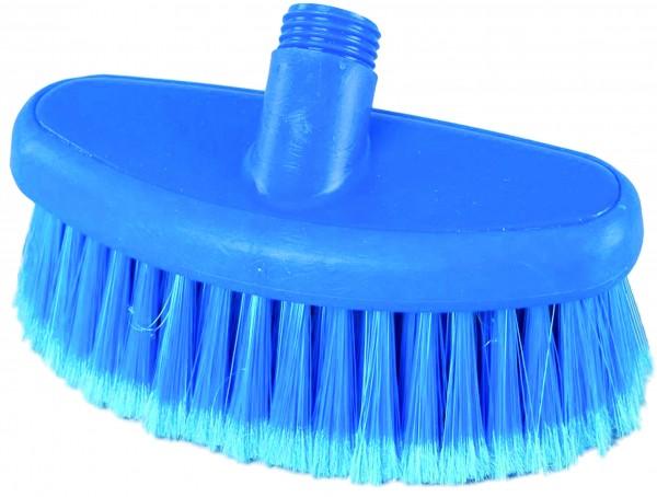 Ovale Waschbürste blau