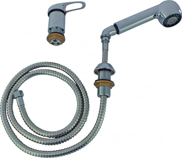 Single control mixer with shower