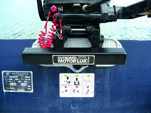 Secure lock for outboarders heavy duty