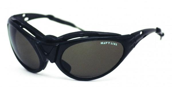 Sport-Sonnenbrille, Rahmen schwarz, Glas grün