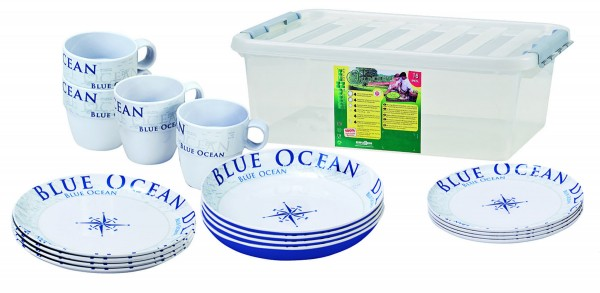 Blue Ocean Dinnerware Set 16 pcs.