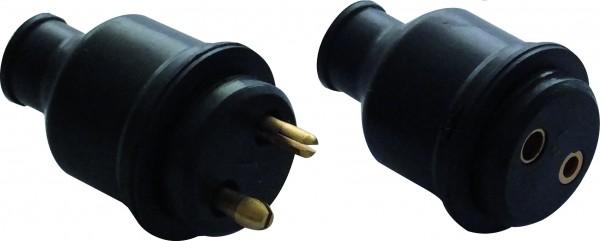 12 V Steckverbindung, wasserdichter Stecker und Dose, Gummi, 2-polig