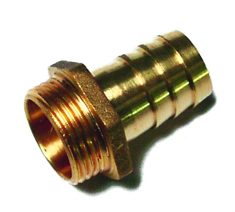 male hose connector, brass