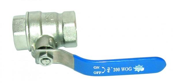 Ball valve brass chromed