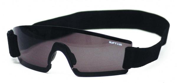 Sport-Sonnenbrille, Rahmen schwarz, Rauchglas