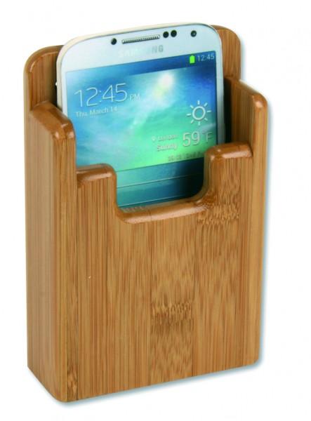 Bamboo holder for smartphone