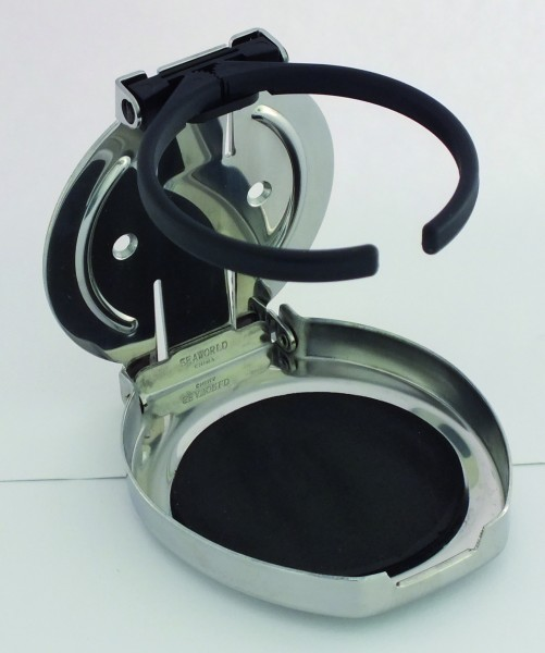 Foldable cup holder stainless steel